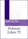 Libro 75 2020 Febrero.  Archivo PDF para descargar, se abrirá en una nueva ventana