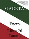 Libro 26 Tomo I 2016 Enero. Archivo PDF para descargar, se abrirá en una nueva ventana