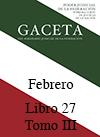 Libro 27 Tomo III 2016 Febrero. Archivo PDF para descargar, se abrirá en una nueva ventana