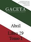 Libro 29 Tomo I 2016 Abril. Archivo PDF para descargar, se abrirá en una nueva ventana