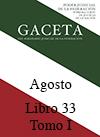 Libro 33 Tomo I 2016 Agosto. Archivo PDF para descargar, se abrirá en una nueva ventana