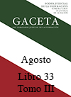 Libro 33 Tomo III 2016 Agosto. Archivo PDF para descargar, se abrirá en una nueva ventana