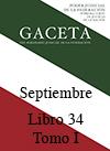 Libro 34 Tomo I 2016 Septiembre. Archivo PDF para descargar, se abrirá en una nueva ventana
