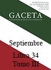 Libro 34 Tomo III 2016 Septiembre. Archivo PDF para descargar, se abrirá en una nueva ventana