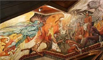 mural de Luis Nishizawa: la Justicia
